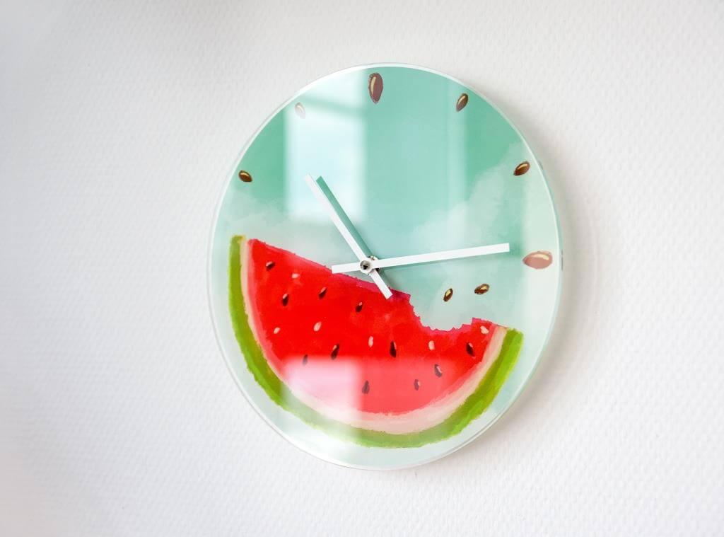 DIY kostenlose Vorlage Melonenuhr