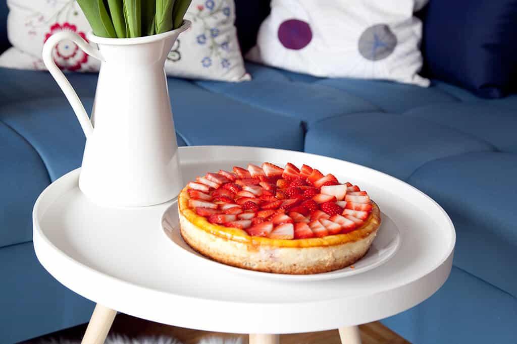 Lecker: Erdbeer-Cheesecake-Brownie