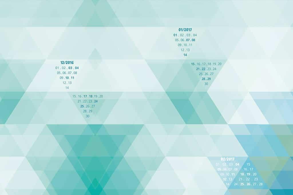 Bildschirmhintergrund mit Kalendarium