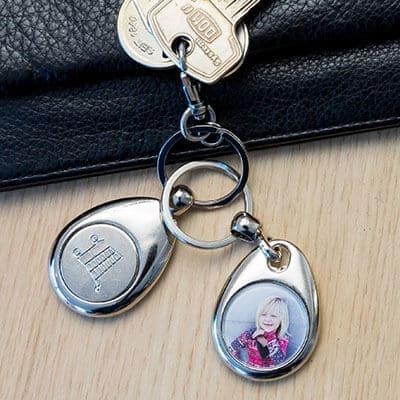 Schlüsselanhänger mit Einkaufschips