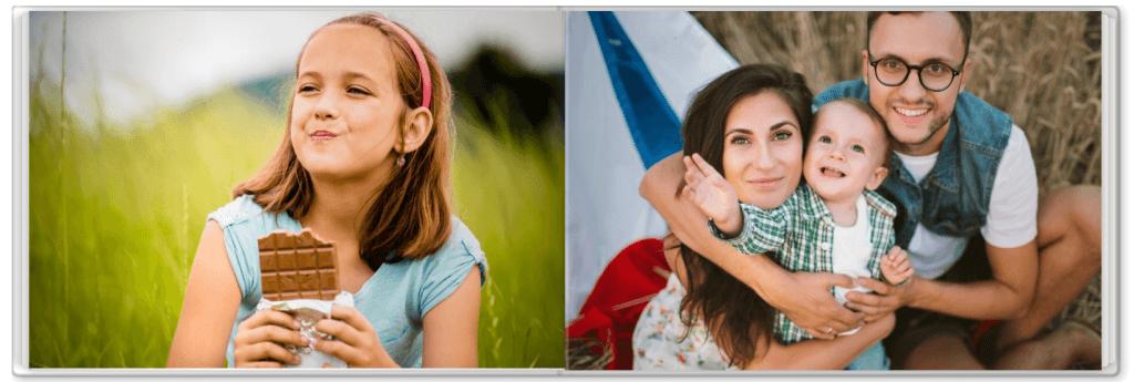 Fotobuch mit der Familie für Kinder
