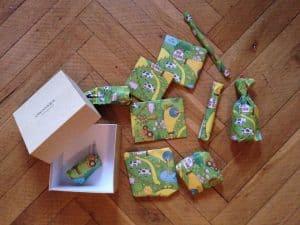 Geschenke zur Geburt verpackt