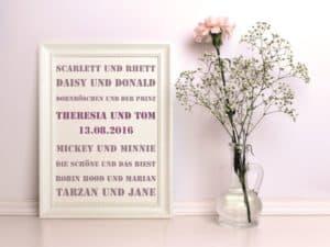 hochzeitsdeko Poster