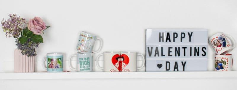 Geschenkideen zum Valentinstag: Tassen selbst bedrucken