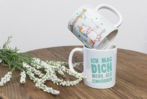 """Geschenkideen zum Valentinstag: """"Ich mag Dich mehr als Einhörner"""""""