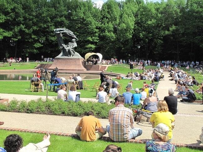 Kurztrip Warschau Park