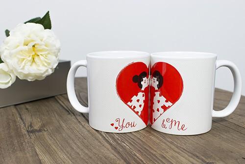 Geschenkideen zum Valentinstag: You & Me-Paartasse