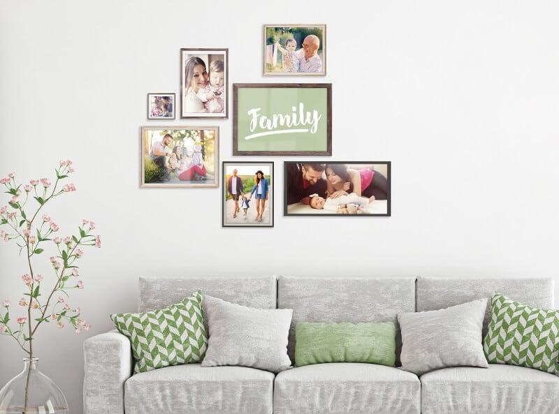 wandgestaltung so bringst du deine fotos kreativ an die wand fotobuch ideen myphotobook. Black Bedroom Furniture Sets. Home Design Ideas